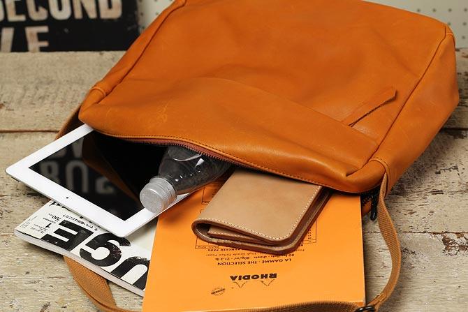 ショルダーバッグ グローブレザー メンズ バギーポート ynm 1703 横型 A4サイズ