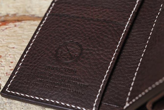 二つ折り 革財布 エルバマット 手縫い ミドルウォレット ハンドメイド TEMPESTI ELBAMATT
