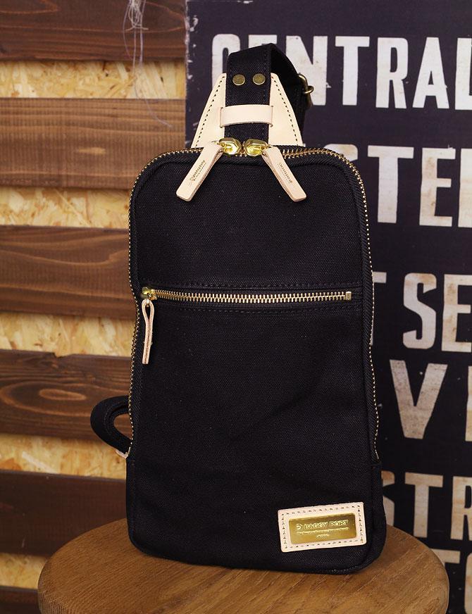 ブラック コーマ帆布 ボディバッグ メンズ バギーポート grn 1006 A5サイズ