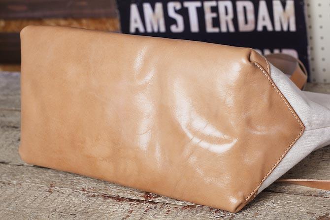国内最厚 2号帆布とヌメ革 ワークトートバッグ メンズ Lサイズ 倉敷ハンプと栃木レザー使用 オーダーメイド商品