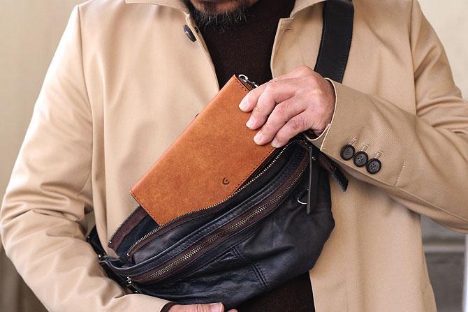まるで和紙のよう、経年変化でガラリと表情を変えるイタリアンレザー ラウンド長財布 メンズ ブオナ バギーポート BAGGY PORT 本革 zys 2400