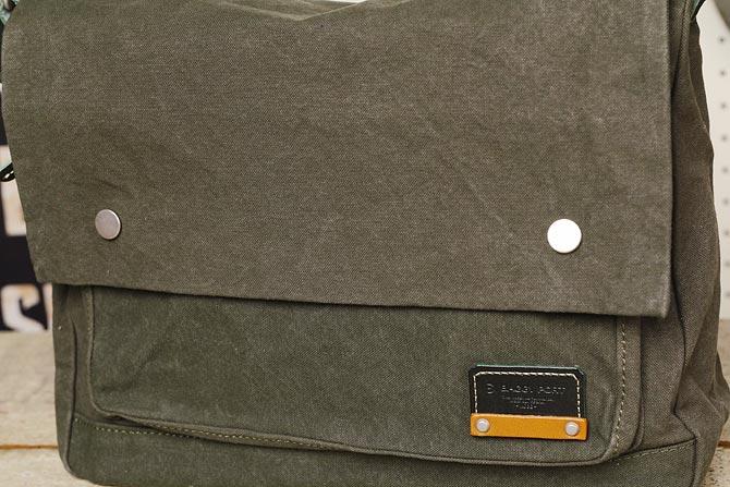 ハンプのショルダーバッグ メンズ カラーバイオ帆布 BAGGY PORT バギーポート A4ジャストサイズのかぶせショルダー grn 1506