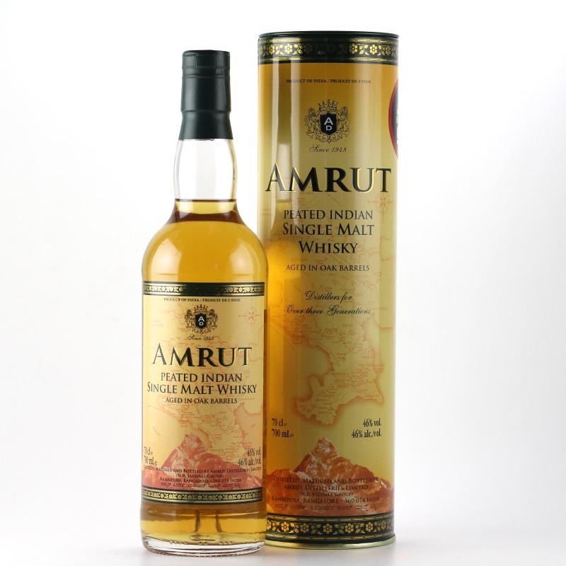 Amrut Peated Indian Single Malt Whisky 46%