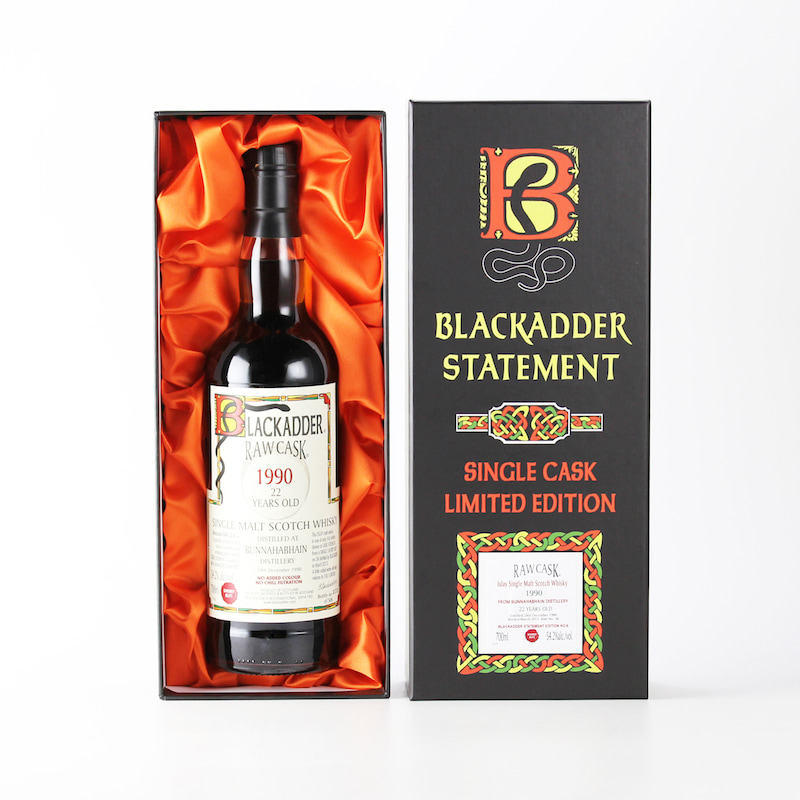 BLACKADDER STATEMENT NO.6 RAW CASK BUNNAHABHAIN 1990 22yo Cask No.36 54.2%