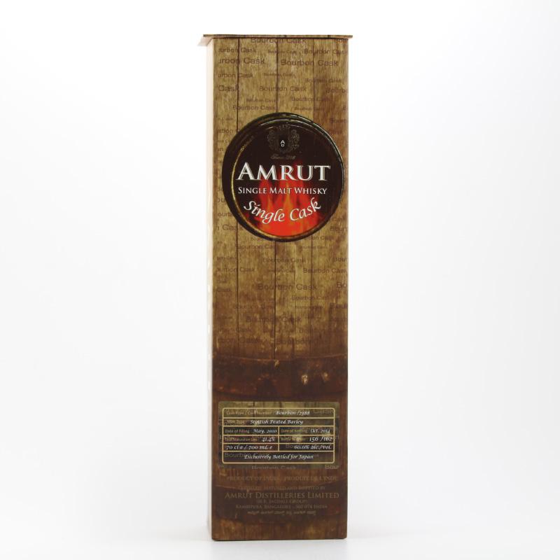 AMRUT SINGLE CASK WHISKY BOURBON CASK PEATED SCOTTISH BARLEY CASK No.2388