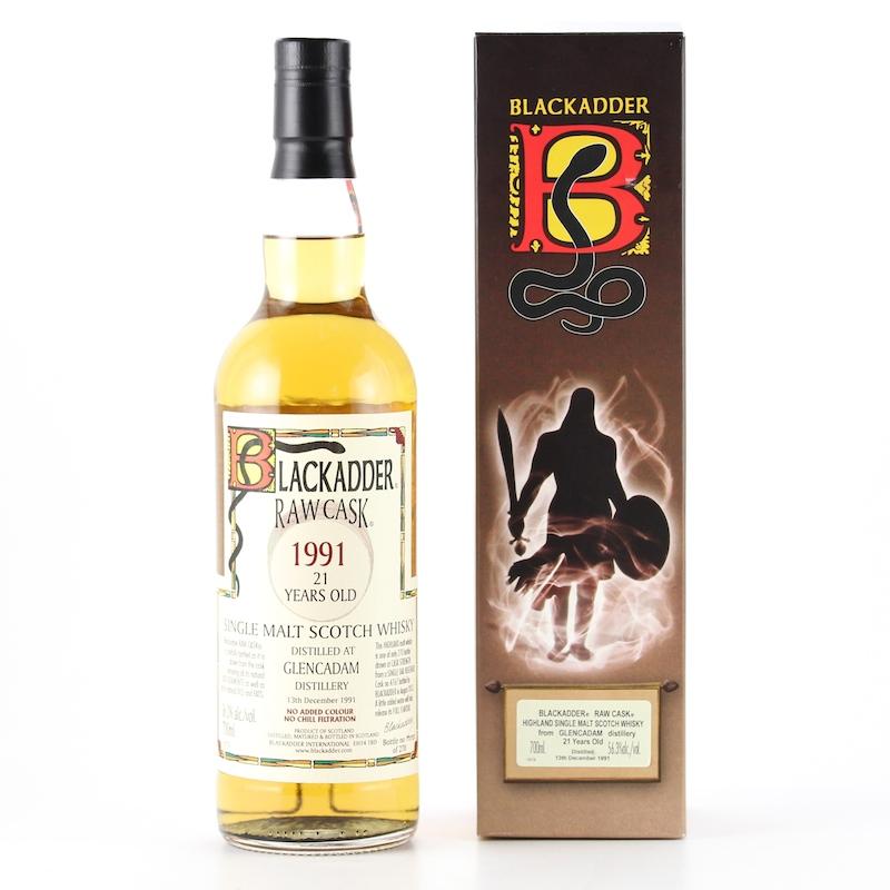 BLACKADDER RAW CASK GLENCADAM 1991 21yo Cask Ref:4767 56.3%