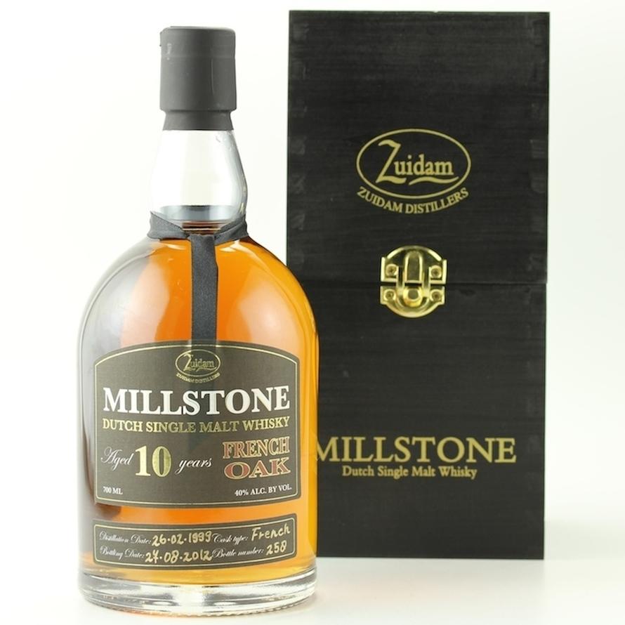 Zuidam Millstone Dutch Single Malt Whisky 10YO French Oak 40%