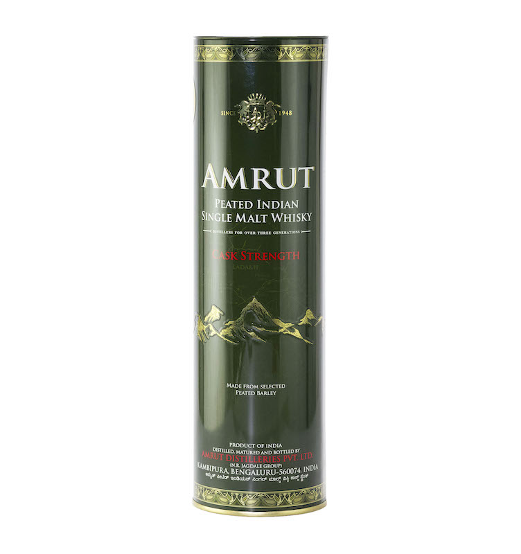 AMRUT PEATED SINGLE MALT WHISKY CASK STRENGTH 62.8%