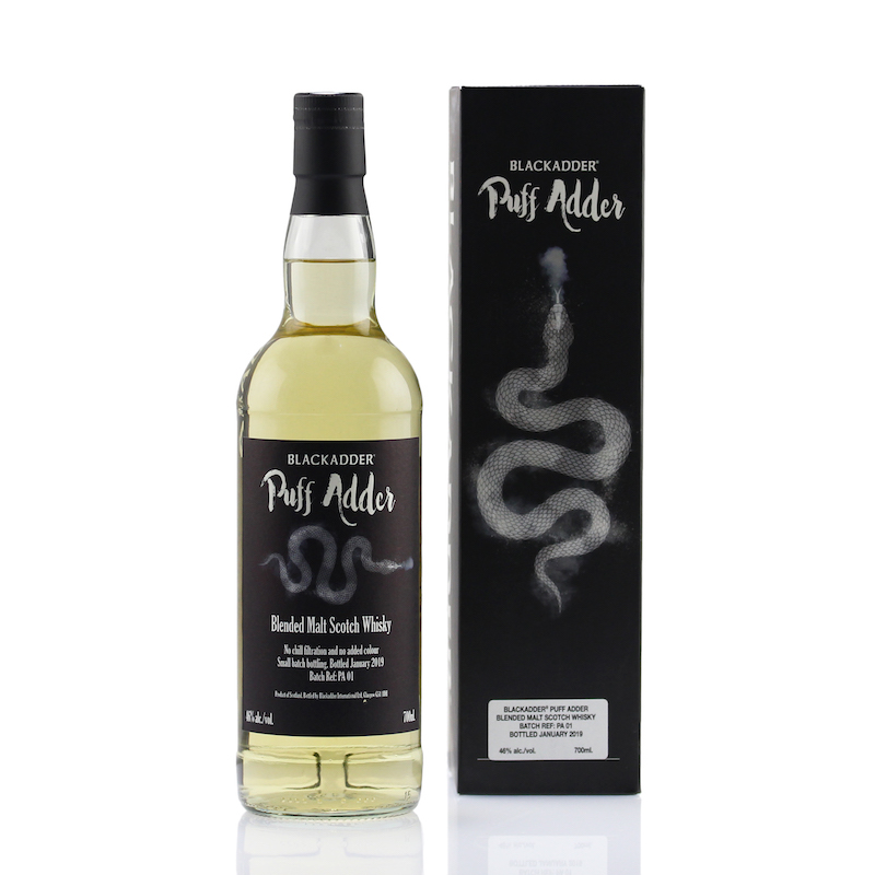 BLACKADDER PUFF ADDER BLENDED MALT SCOTCH WHISKY Batch ref:PA01 46%