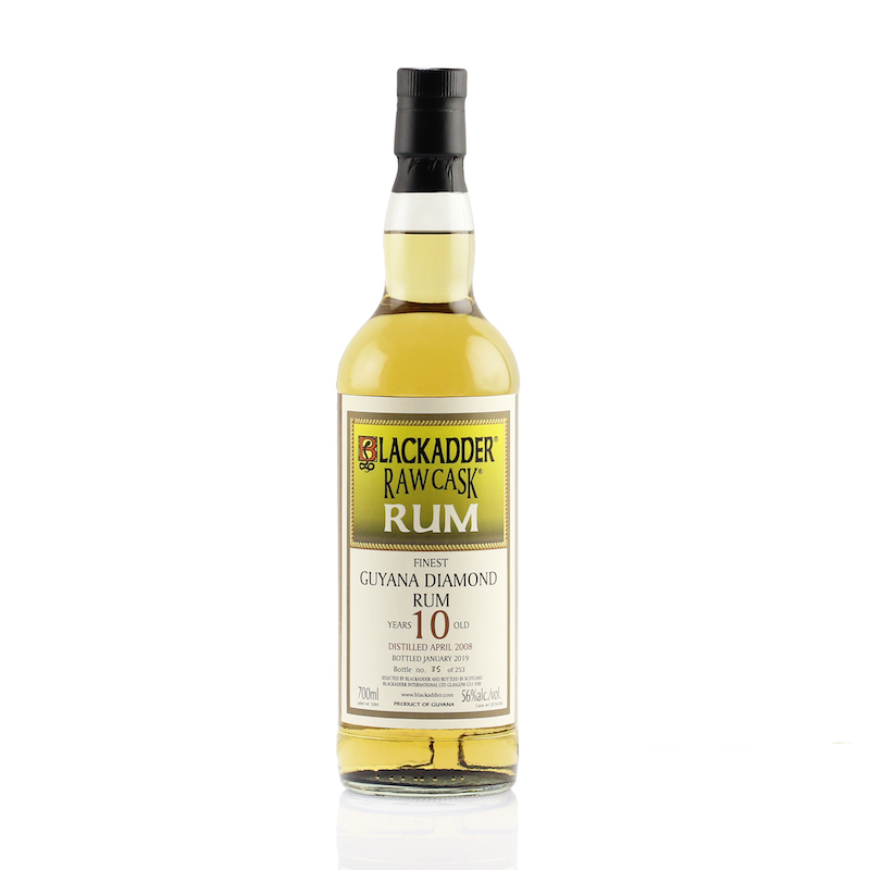 BLACKADDER RAW CASK GUYANA DIAMOND RUM 2008 10yo Cask ref:2019-009 56%