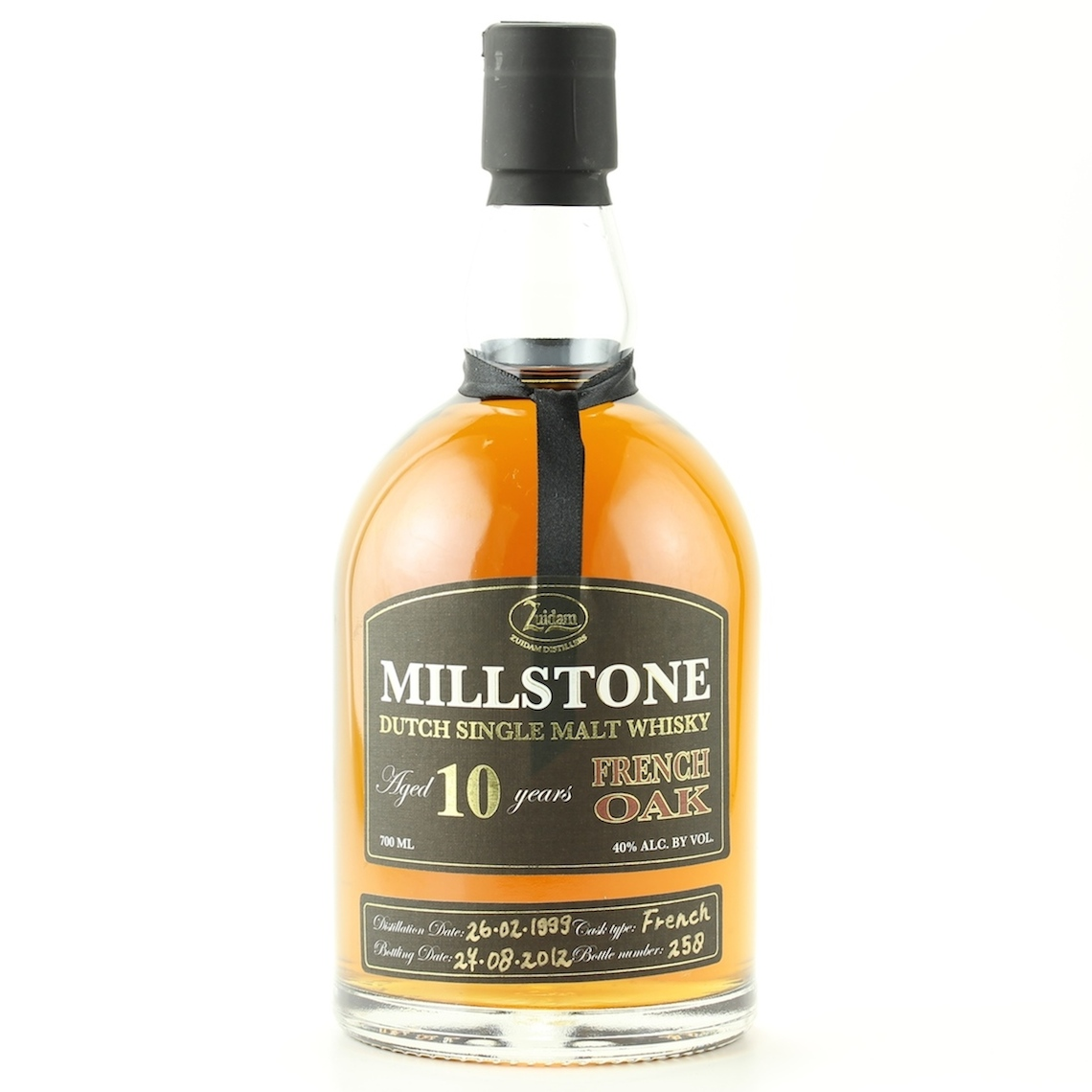 Zuidam Millstone Dutch Single Malt Whisky 10YO French Oak 40%