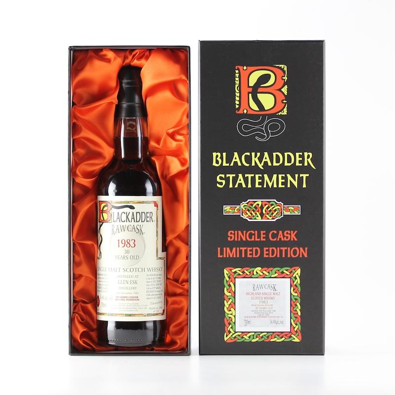 BLACKADDER STATEMENT NO.11 RAW CASK GLEN ESK 1983 30yo Cask ref:4929 54.4%