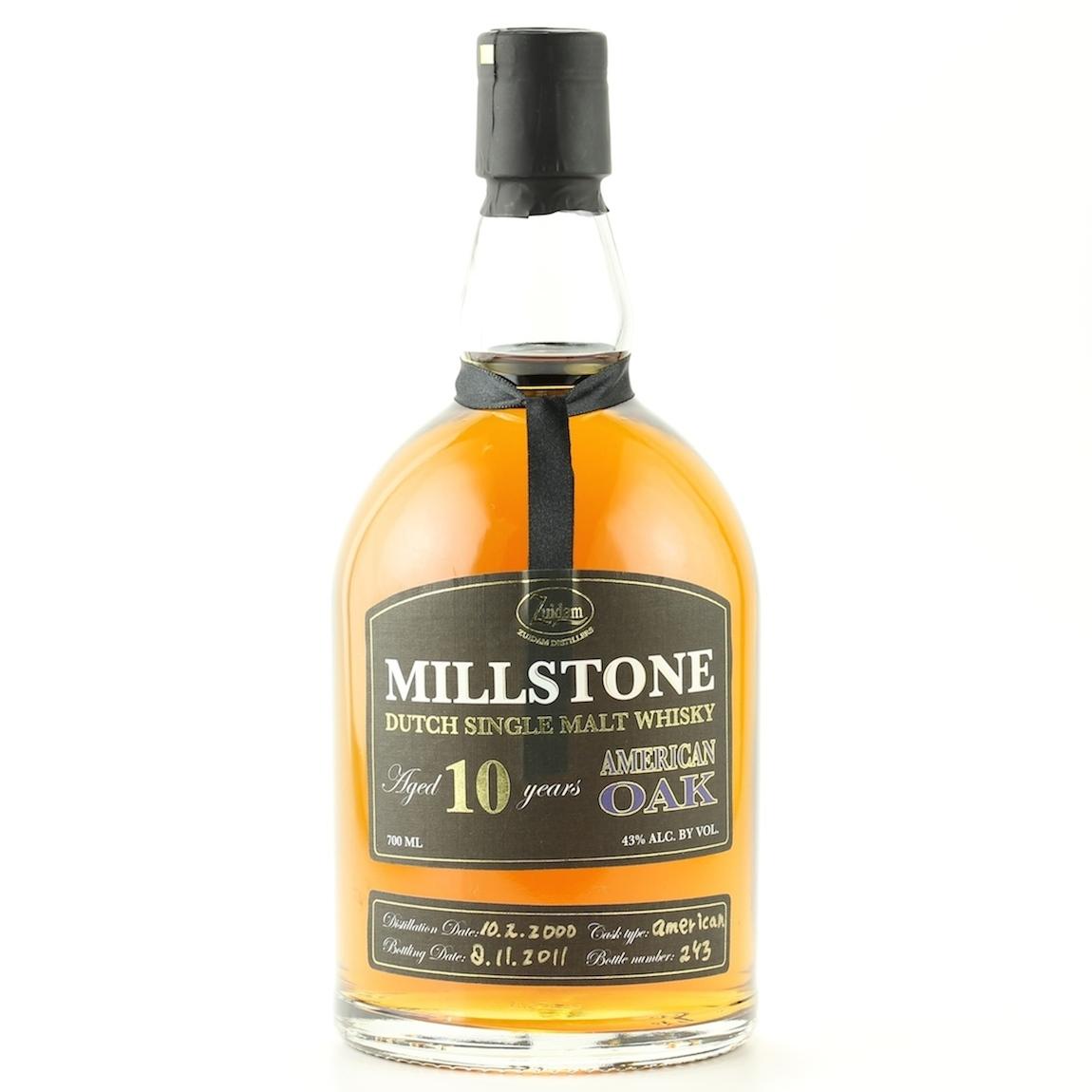 Zuidam Millstone Dutch Single Malt Whisky 10YO American Oak 43%