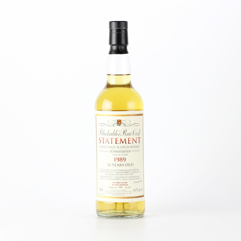 BLACKADDER STATEMENT NO.25 RAW CASK BUNNAHABHAIN 1989 26yo Cask ref:5757 44.7%