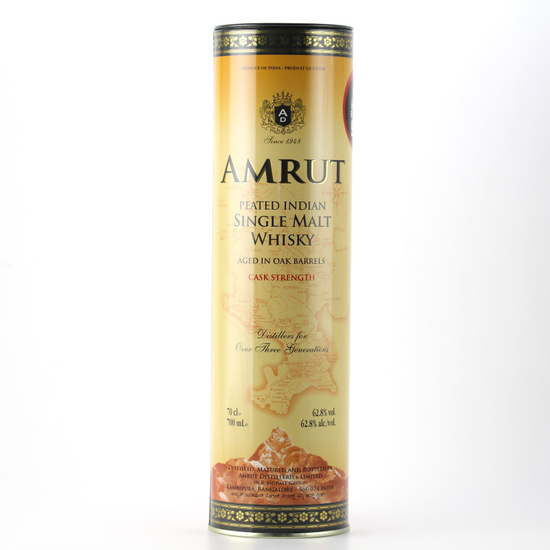 Amrut Peated Single Malt Whisky Cask Strength 62.8%