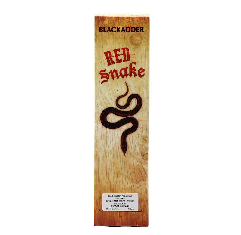 【箱に傷あり】BLACKADDER RED SNAKE RAW CASK Cask Ref: Redneck 87 50ppm CELEBRATING 25 YEARS OF BLACKADDER 59.5 %
