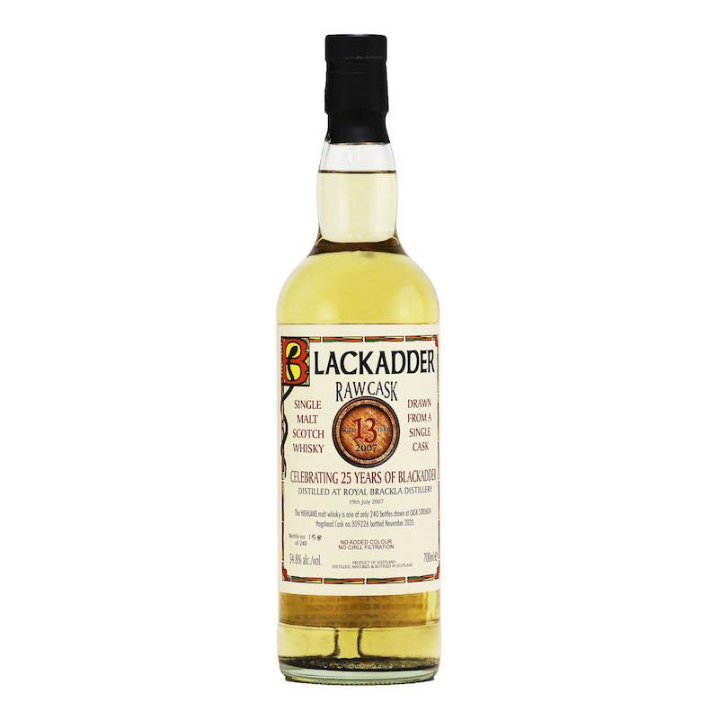 BLACKADDER RAW CASK ROYAL BRACKLA 2007 13YO CELEBRATING 25 YEARS OF BLACKADDER Cask no.309226 54.8%