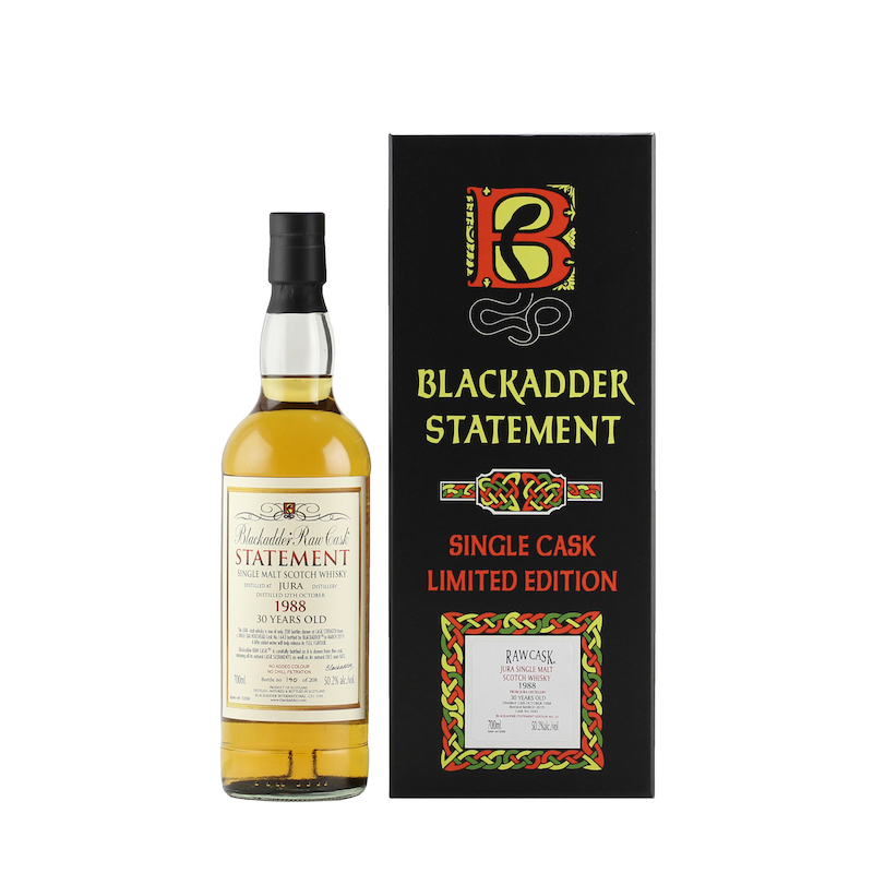 BLACKADDER STATEMENT NO.32 RAW CASK JURA 1988 30YO Cask No.1643 50.2%