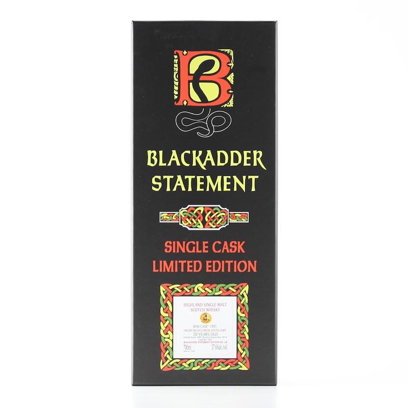 BLACKADDER STATEMENT NO.12 RAW CASK INCHGOWER 1995 20yo Cask ref:692 57.6%