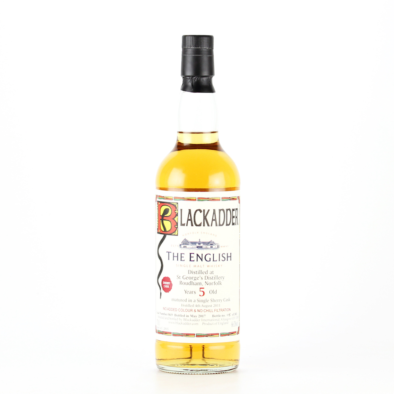 BLACKADDER  UNPEATED ENGLISH SINGLE MALT WHISKY SHERRY CASK Cask 5YO ref:869 66.3%