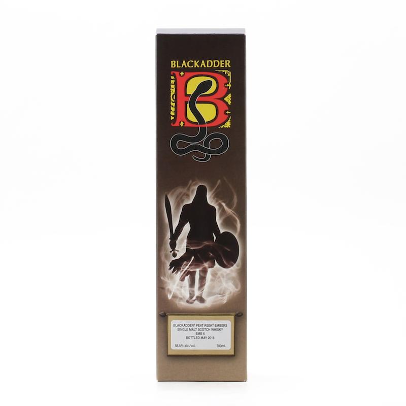 BLACKADDER PEAT REEK EMBERS ISLAY SINGLE MALT SCOTCH WHISKY Cask Ref: EMB6 58.5%