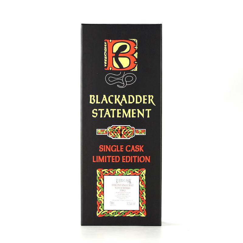 BLACKADDER STATEMENT NO.28 RAW CASK BLADNOCH 1992 24YO WINE CASK FINISH Cask No.8272 51.2%