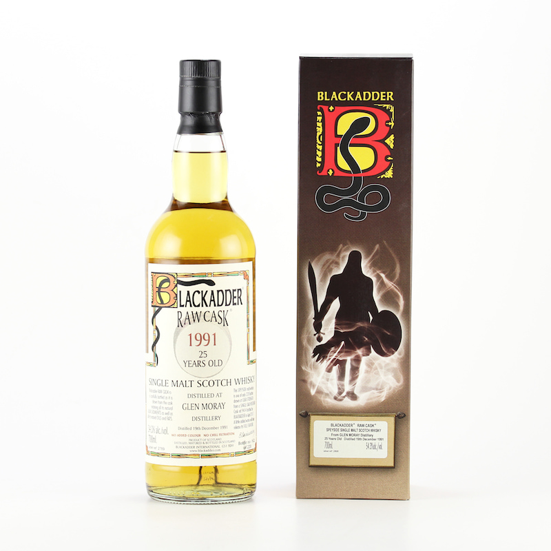 BLACKADDER RAW CASK GLEN MORAY 1991 25yo Cask ref:9414 54.3%
