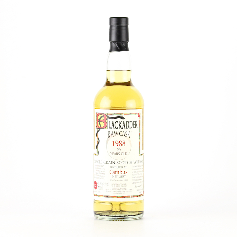 BLACKADDER RAW CASK CAMBUS SINGLE GRAIN SCOTCH WHISKY 1988 29YO Cask ref:59251 46.3%
