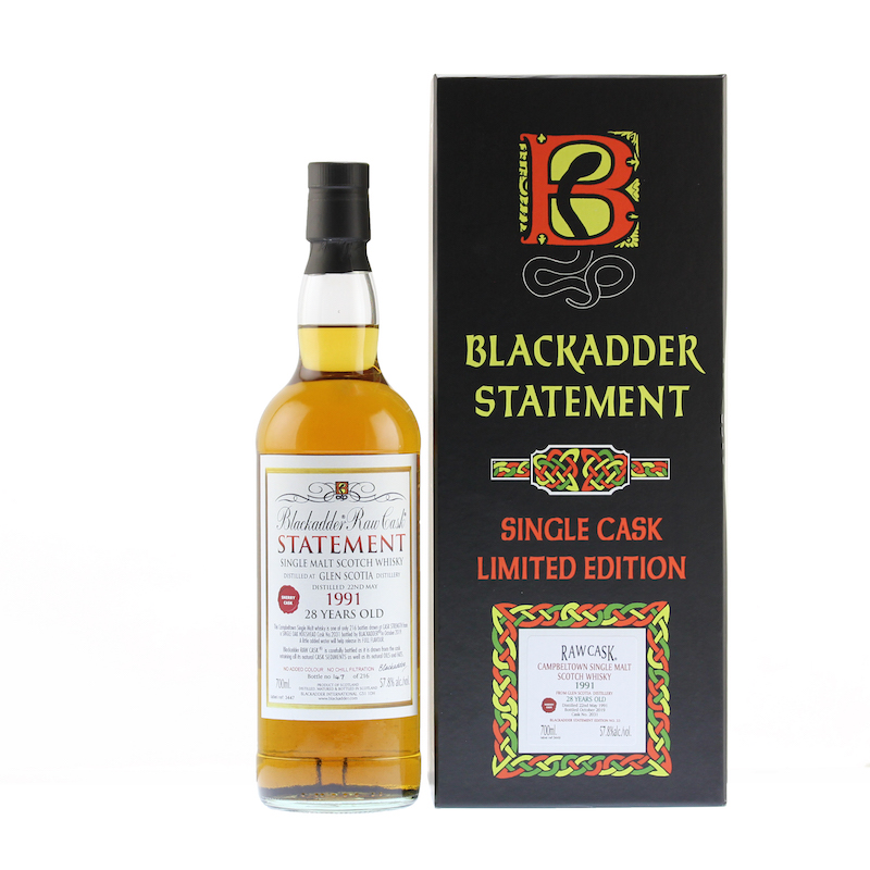 BLACKADDER STATEMENT NO.33 RAW CASK GLEN SCOTIA 1991 28YO Cask No.2031 57.8%