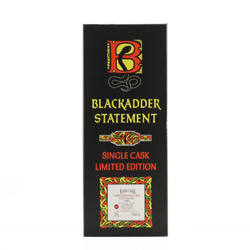 BLACKADDER STATEMENT NO.33 RAW CASK GLEN SCOTIA 1991 28YO Cask No.2031 57.8%