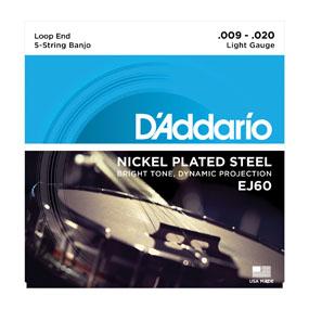 D'addario/バンジョー弦/EJ60 Light/Nickel 5-string【ダダリオ】