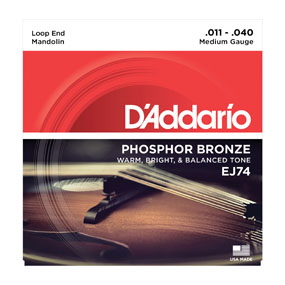 D'addario/マンドリン弦/EJ74 Mandolin/Meduim/Phospor Bronze【ダダリオ】