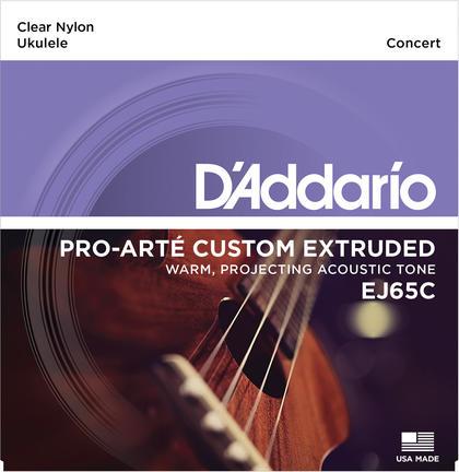 D'addario/ウクレレ弦 EJ65C concert Ukulele Pro-Arte【ダダリオ】