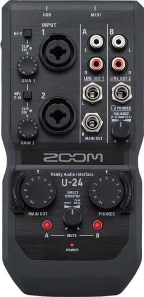 ZOOM/U-24 2イン/4アウトオーディオインターフェース 【ズーム】