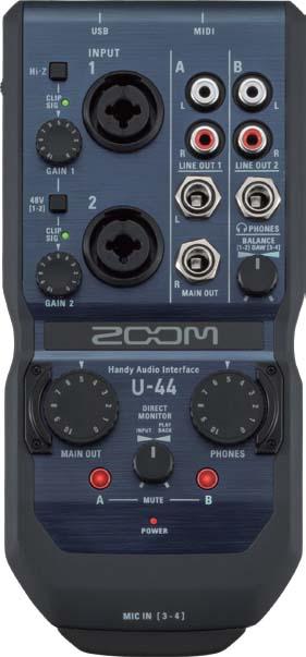 ZOOM/U-44 4イン/4アウトオーディオインターフェース 【ズーム】