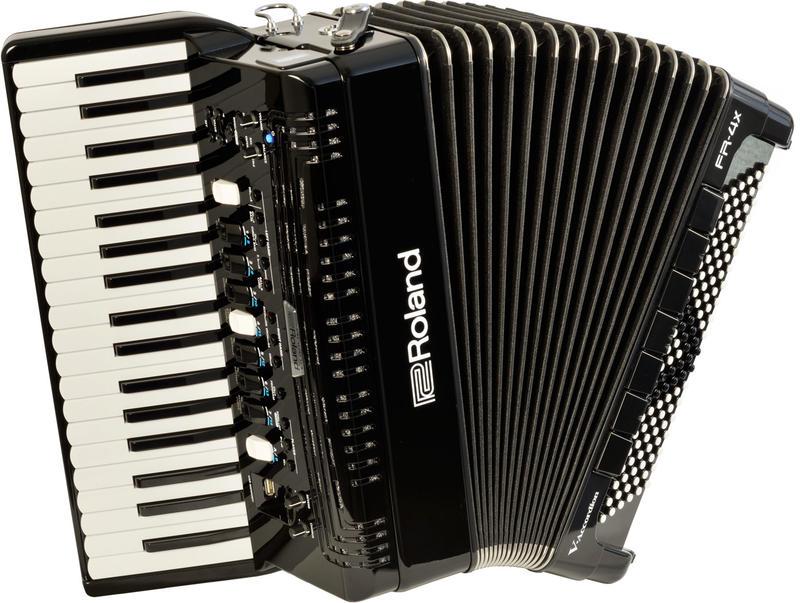 Roland/Vアコーディオン FR-4x BK(ピアノ鍵盤タイプ)【ローランド/V-Accordion】