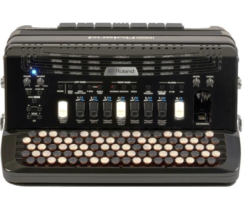 Roland/VアコーディオンFR-4xb BK(ボタン鍵盤タイプ)【ローランド/V-Accordion】