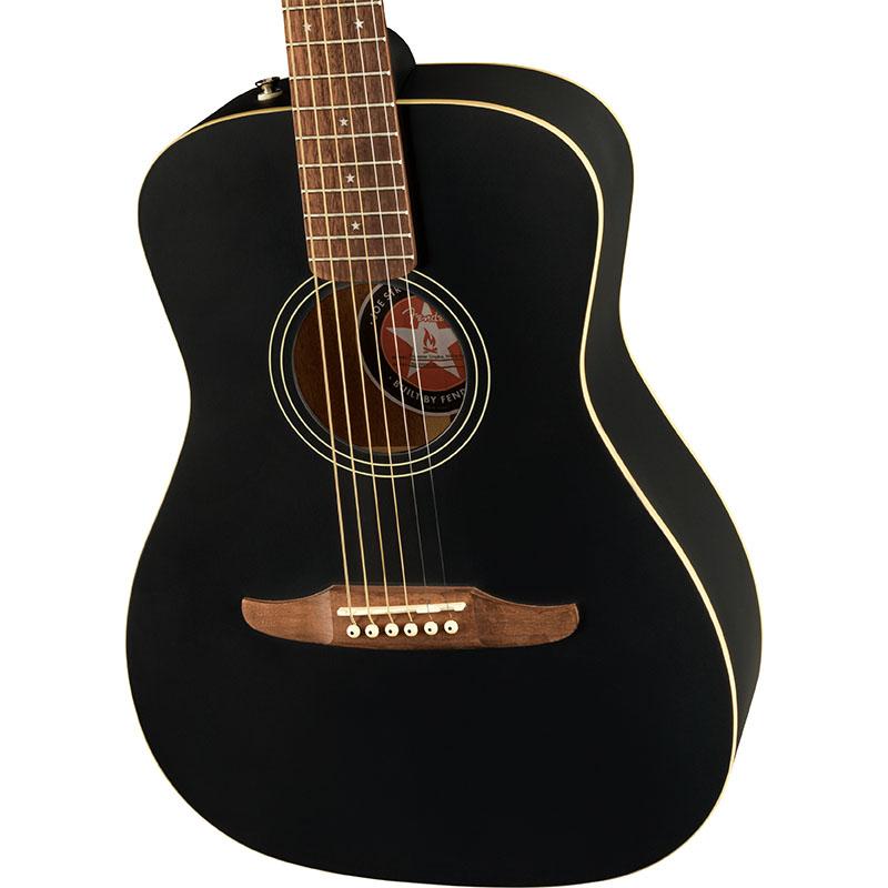 Fender Joe Strummer Campfire, Walnut Fingerboard, Matte Black【フェンダーエレアコ】
