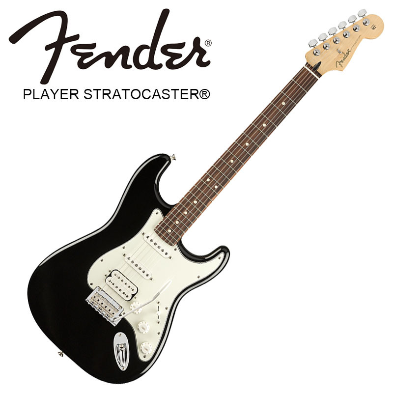 Fender Player Stratocaster HSS Black Pau Ferro Fingerboard 【フェンダーストラトキャスター】【正規輸入品】