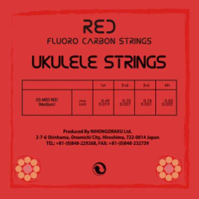 ORCAS RED FLUORO CARBON STRINGS OS-MED RED ウクレレ弦【オルカス】