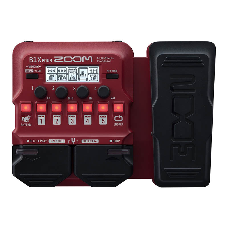 ZOOM/「B1X FOUR」ベース用マルチエフェクター Multi-Effects Processor【ズーム】