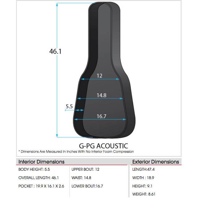 GATOR G-PG ACOUSTIC アコースティックギター用ギグバッグ【ゲーター】