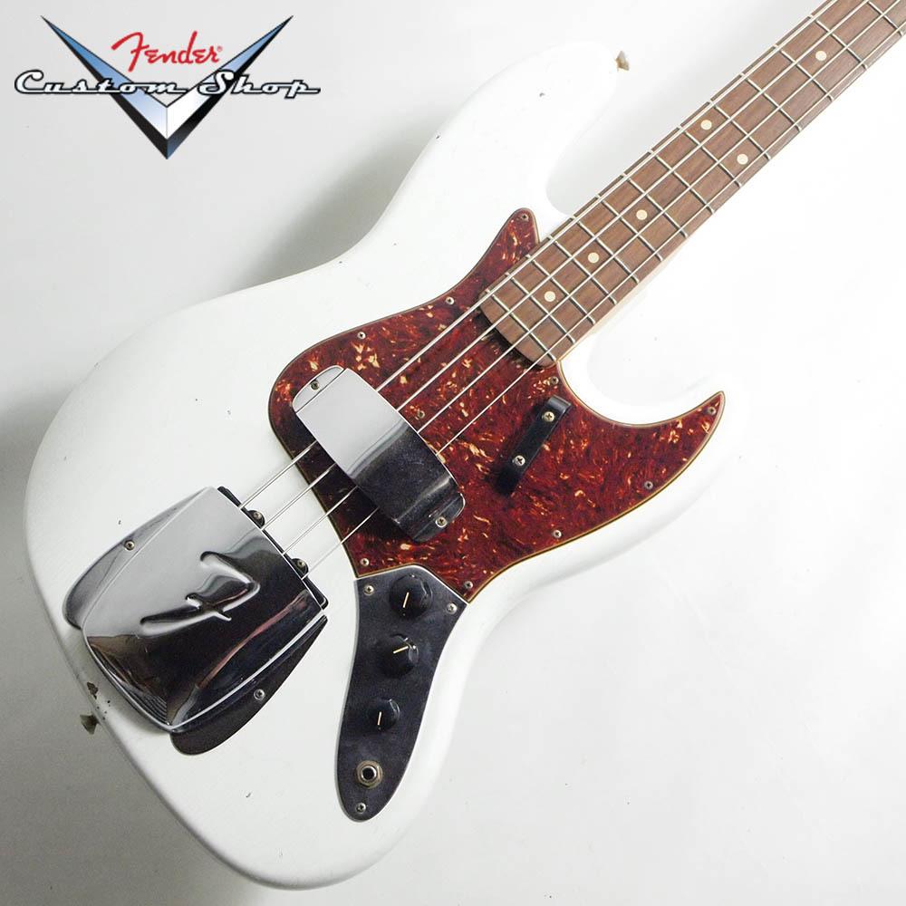 Fender Custom Shop Custom Built 1962 Jazz Bass Journeyman Relic Olympic White【フェンダー・カスタム・ショップ・ジャズベース】【 S/N R104027 4.24kg】