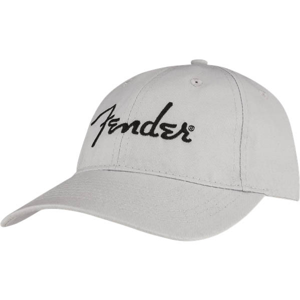 Fender Embroidered Logo Dad Hat Silver キャップ【フェンダー】