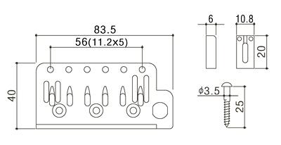 GOTOH/Guitar Tremoro Units 510T-FE2 Chrome【ゴトー】