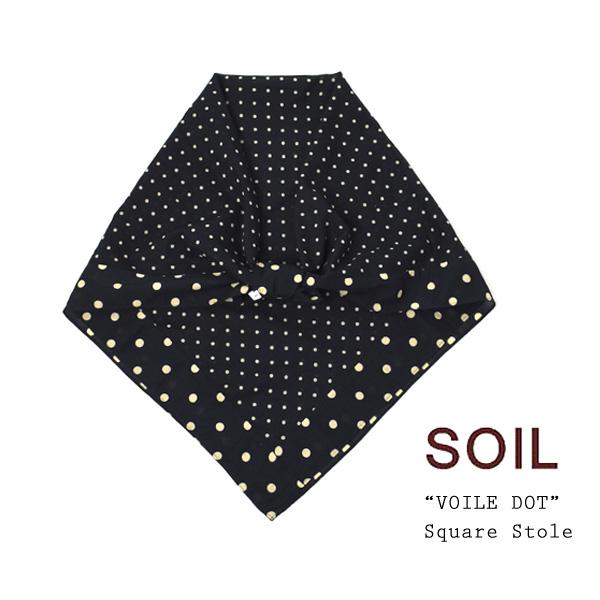 """【メール便可】SOIL ソイル スクエアストール""""VOILE DOT"""" NSL20027"""