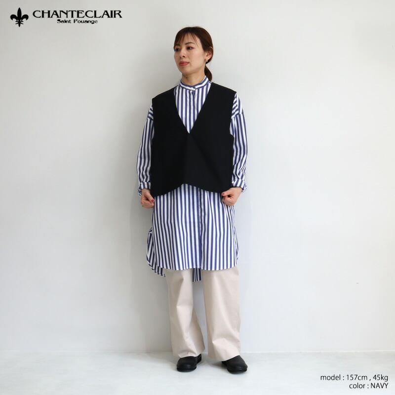 CHANTECLAIR シャントクレール ストライプロングシャツ BD6121106