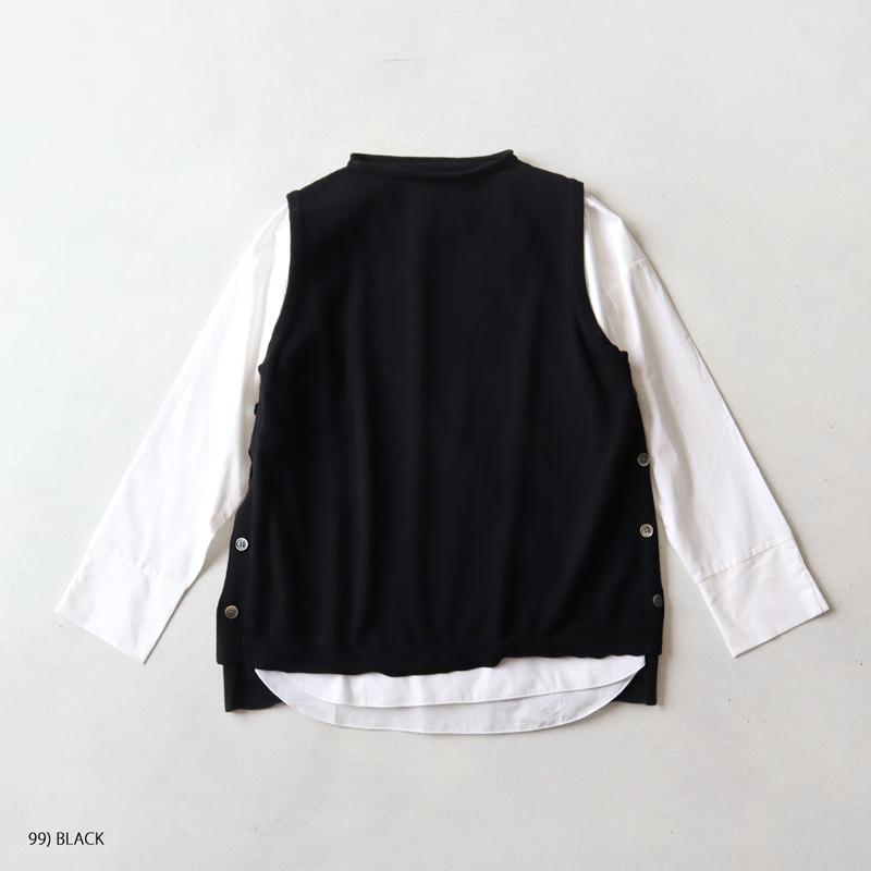 mao made マオメイド インナーセット ブラウス×ベスト2点セット 141151