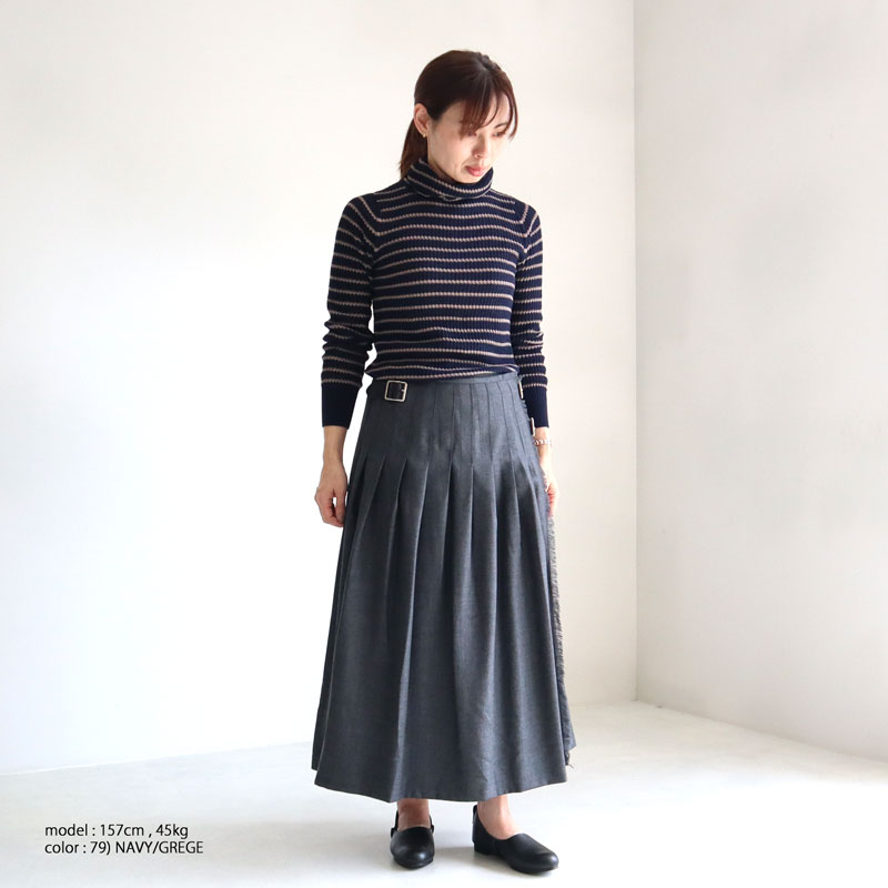 【1枚までメール便送料無料】mao made マオメイド ワッフルニットタートル 141102