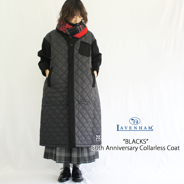 LAVENHAM【ラベンハム】ブラックス 50周年記念ノーカラーキルティングコート (BLACKS 50th COLLARLESS COAT) BLACKS-COAT